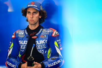 Kecewanya Rins Gagal Selesaikan Balapan di MotoGP San Marino 2019