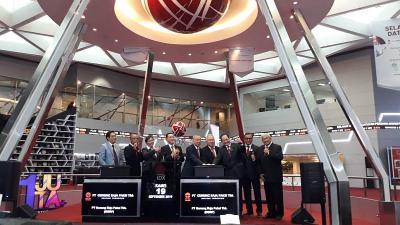 Tampil Perdana di BEI, Saham Gunung Raja Paksi Menguat 10%