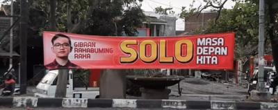 Spanduk Dukungan untuk Gibran Maju di Pilwalkot Solo Bermunculan