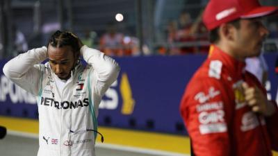 Hamilton Kaget Dua Pembalap Ferrari Tampil Cepat di Kualifikasi GP Singapura