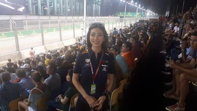 Kesan Karla Jasmina Usai Saksikan F1 GP Singapura 2019