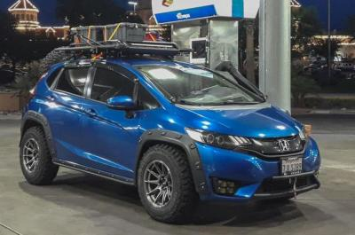Gara-Gara Bodi Lecet, Pemilik Honda Jazz Modifikasi Mobilnya Bergaya Off Road