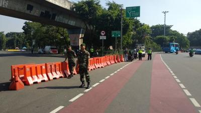 Antisipasi Demonstrasi, Jalan Menuju Istana Presiden Ditutup