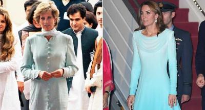 Intip Tampilan Kate Middleton saat Tiba di Pakistan, Tiru Putri Diana?