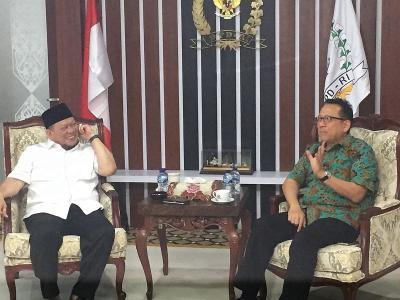 Irman Gusman Bertemu Ketua DPD RI La Nyalla Mattalitti