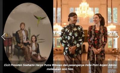 4 Potret Pernikahan Cicit Soeharto dengan Anjani, Bak Pangeran dan Putri Keraton
