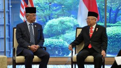 Ma'ruf Amin Bertemu Raja Malaysia di Jepang, Bicara Tentang Perlindungan TKI
