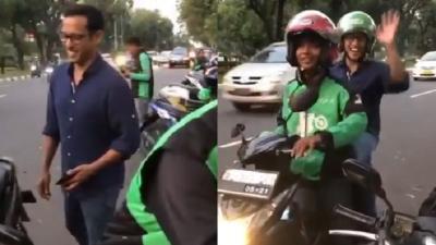Viral Video Nadiem Makarim Naik Gojek, Netizen: Bayarnya Pakai Promo Gak Ya?