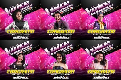 6 Peserta The Voice Indonesia Melaju ke Babak Semifinal