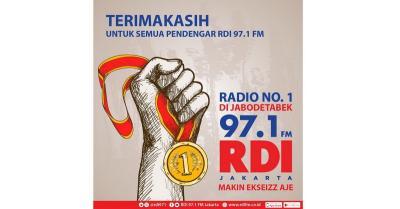 97.1 FM RDI Jakarta Jadi Radio Nomor 1 di Jabodetabek