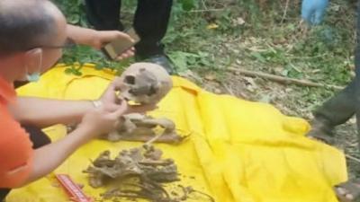 Penemuan Kerangka Wanita di Depan Pura Gegerkan Warga Klungkung Bali