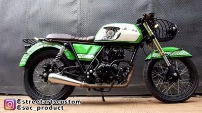 Intip Modifikasi Motor Cafe Racer Racikan Street Art Custom