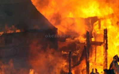 Gudang Kertas di Ciputat Terbakar Hebat