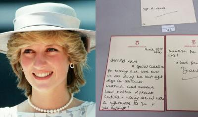 Surat Tulisan Tangan Putri Diana Tentang Kedua Putranya Dijual Nyaris Rp60 Juta
