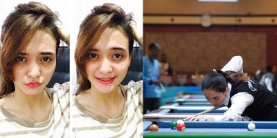 Cantiknya Nony Krystianti Atlet Biliar Indonesia yang Akan Bertarung di Final SEA Games 2019