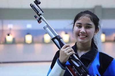 Pesona Vidya Rafika Atlet Tembak Cantik Indonesia, Peraih 2 Medali Emas SEA Games 2019