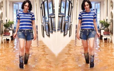 Sepatu Boots Yuni Shara saat Kebanjiran Curi Perhatian, Segini Harganya!