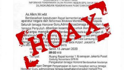 Heboh Informasi Pengangkatan CPNS Tanpa Tes, Kemenpan RB: Hoaks!