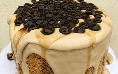 Yuk Bikin Dessert Kekinian Golden Boba Milk Tea Cake