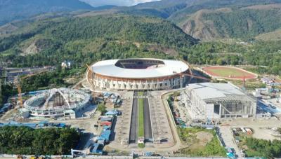 PON Papua, Pembangunan 4 Proyek Gedung Olahraga Lebih Cepat
