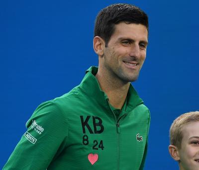 Tribute Djokovic untuk Kobe Bryant di Perempatfinal Australia Open 2020