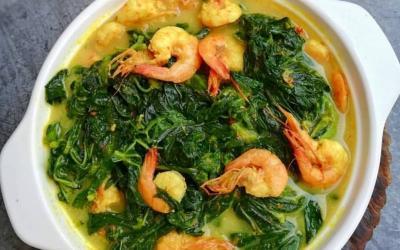 Resep Gulai Daun Singkong Udang, Makan Malam Tambah Berselera