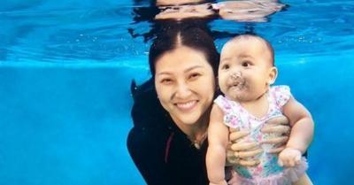 Berusia 8 Bulan, Putri Ruben Onsu Berani Menyelam