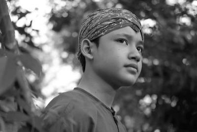 Aktor Remaja Alwi Assegaf Beri Tausiyah di Tahlilan Ashraf Sinclair