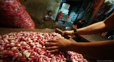 Hari Ini Harga Bawang Merah Naik Jadi Rp45.516 Kg
