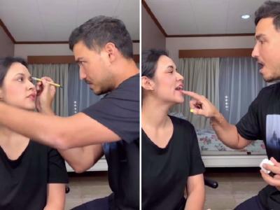 Raisa dan Hamish Daud Main Makeup Romantis di Rumah, Bikin Baper!