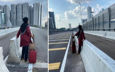 Lockdown, Wanita Ini Jalan Kaki ke Singapura Demi Cucunya