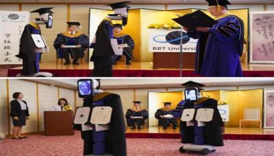 Robot Bantu Acara Wisuda di Jepang karena Wabah Virus Corona