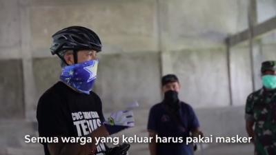 Cara Unik Ganjar Pranowo Ajak Masyarakat Pakai Masker saat Keluar Rumah