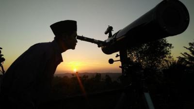 Hilal saat Matahari Terbenam 23 April Penentu Awal Ramadan 1441 H