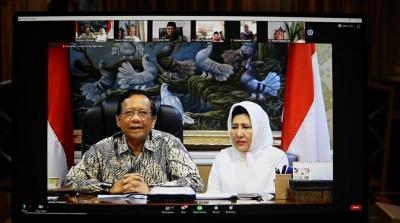 Mahfud MD Silaturahmi secara Virtual Bersama Tokoh KAHMI