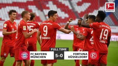 Bayern vs Fortuna Dusseldorf, <i>Die Roten</i> Pesta Gol di Allianz Arena