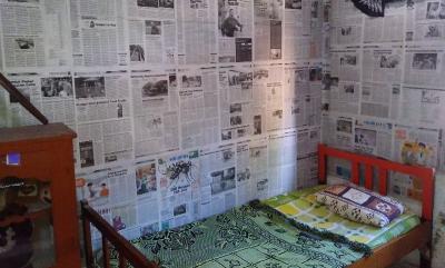 Viral ABG Dekorasi Kamar Pakai Koran Cuma Modal Rp4 Ribu