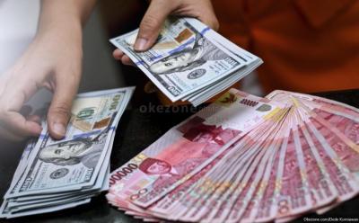 Rupiah Anjlok 1,01% ke Rp14.522 USD