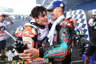 Quartararo Ungkap Sisi Positif Persaingannya dengan Marquez