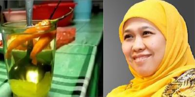 Khofifah Viralkan Wedang Lombok, Minuman Tradisional yang Ampuh Usir Masuk Angin