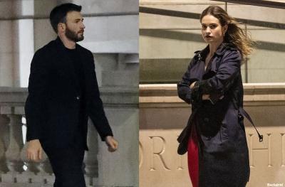 Chris Evans dan Lily James Tepergok Habiskan Malam Bersama di London