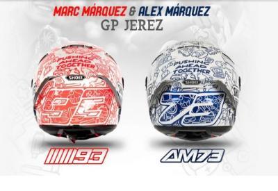 Marquez Bersaudara Luncurkan Helm Baru Sambut MotoGP Spanyol 2020