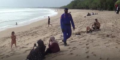 Pantai Kuta Dibuka Lagi, Balawista dan Polair Rajin Sisir Pengunjung