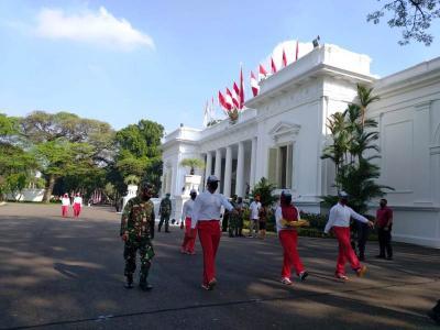 Istana Gelar Simulasi Upacara Bendera Sambut HUT ke-75 RI