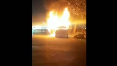 Mobil Taksi Online Terbakar di Kalimalang Diduga Akibat Korsleting