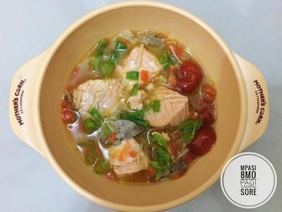 Resep MPASI Sup Salmon dan Hati Ayam, Cocok untuk Bayi 8 Bulan