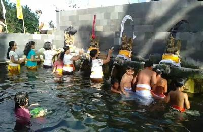Wisata Spiritual Sapta Gangga Bali Dibuka, Langsung Diserbu Pengunjung