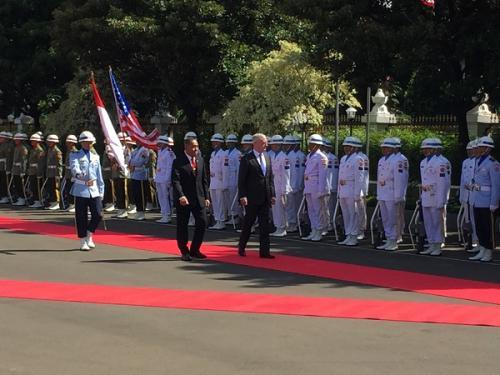Menhan Ryamizard Terima Kunjungan Menhan AS James Mattis dalam Pertemuan Bilateral