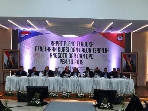 KPU Resmi Tetapkan Perolehan Suara Partai Politik di Pileg 2019
