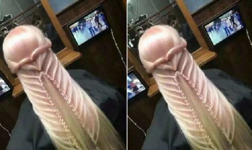 """Viral, Mirip Banget """"Mr. P"""" Model Rambut Wanita Ini Bikin Salah Fokus Gan!"""